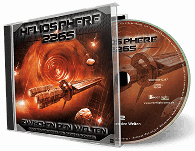 """Heliosphere 2265 (Hörspiel) - Folge 2: Zwischen den Welten"" von Andreas Suchanek. Erschienen in der Greenlight Press. Produziert von Interplanar Produktion."