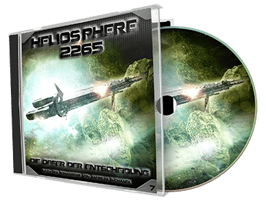"""Heliosphere 2265 (Hörspiel) - Folge 7: Die Opfer der Entscheidung"" von Andreas Suchanek. Erschienen in der Greenlight Press. Produziert von Interplanar Produktion."