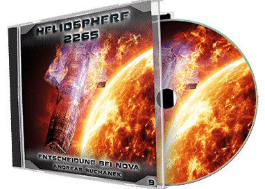 """Heliosphere 2265 (Hörspiel) - Folge 9: Entscheidung bei NOVA"" von Andreas Suchanek. Erschienen in der Greenlight Press. Produziert von Interplanar Produktion."